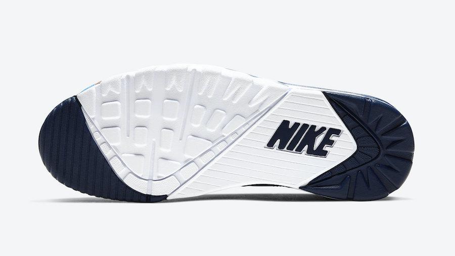 Nike Air Trainer SC High Navy Blue Brown Orange CW6023-400 Release Date Info