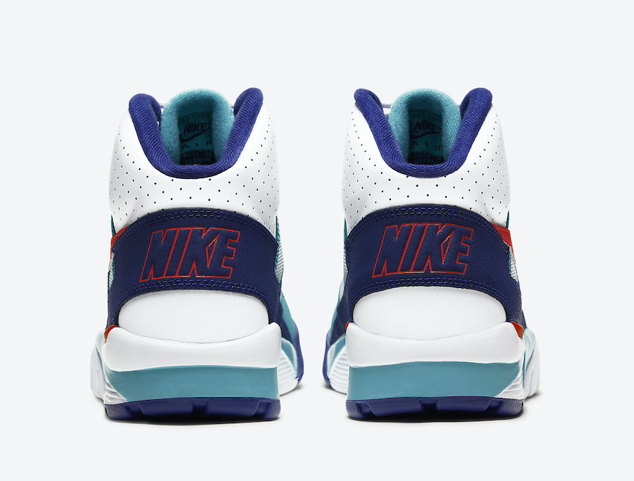 Nike Air Trainer SC High White Teal Navy Red CW6023-401 Release Date Info