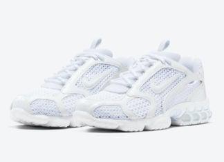 Nike Air Zoom Spiridon Cage 2 Triple White CJ1288-100 Release Date Info