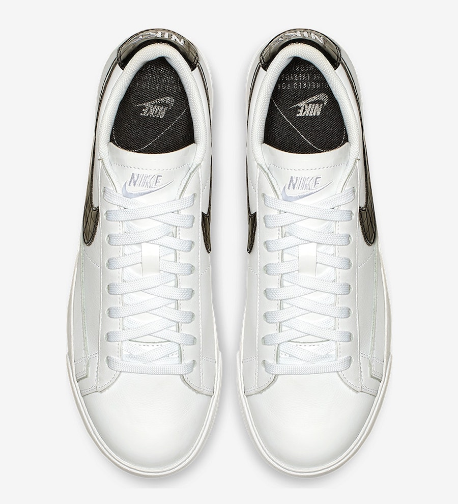 Nike Blazer Low Leather Black Croc Release Date Info