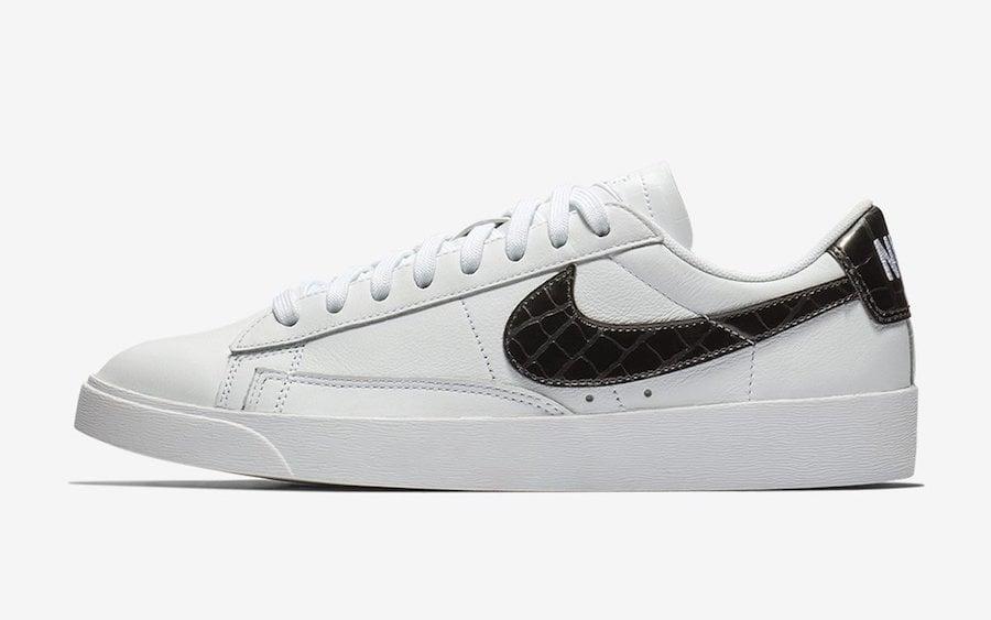 Nike Blazer Low Leather Black Croc