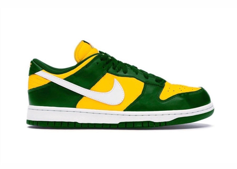 Nike Dunk Low Varsity Maize Pine Green White Release Date Info