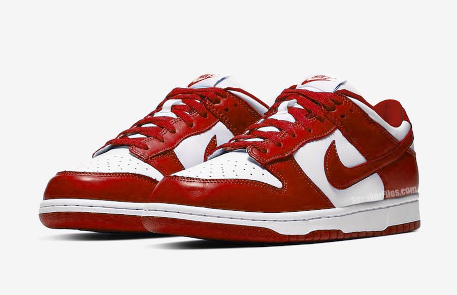 Nike Dunk Low White University Red CU1727-100 Release Date Info
