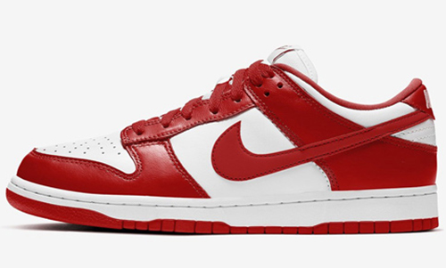 Nike Dunk Low White University Red Release Date