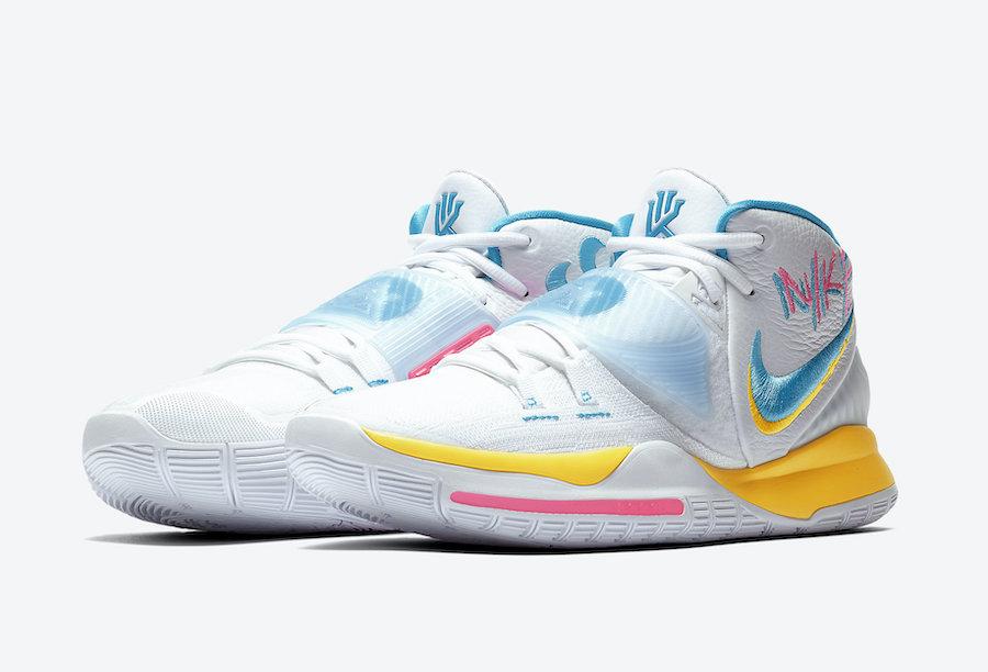 Nike Kyrie 6 Neon Graffiti BQ4630-101 Release Date