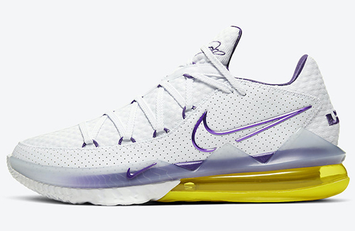 Nike LeBron 17 Low Lakers Home Release Date