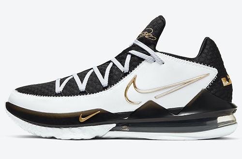 Nike LeBron 17 Low White Black Metallic Gold Release Date