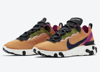 Nike React Element 55 Magma Orange CI3831-801 Release Date Info