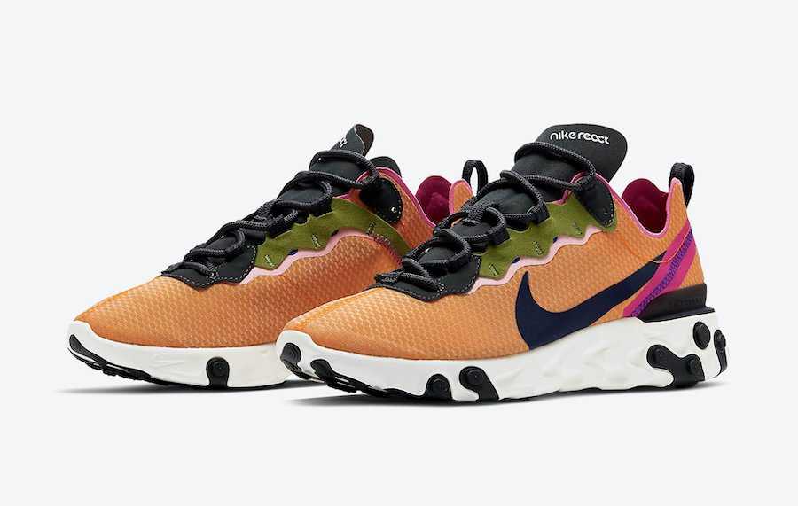 Campo mesa sal  Nike React Element 55 Magma Orange CI3831-801 Release Date Info |  SneakerFiles