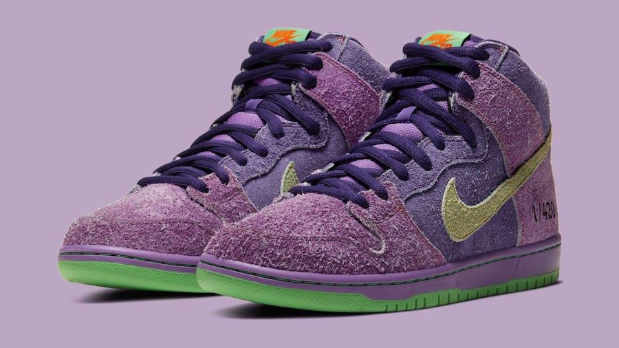 Nike SB Dunk High 'Purple Skunk' Official Images | Getswooshed