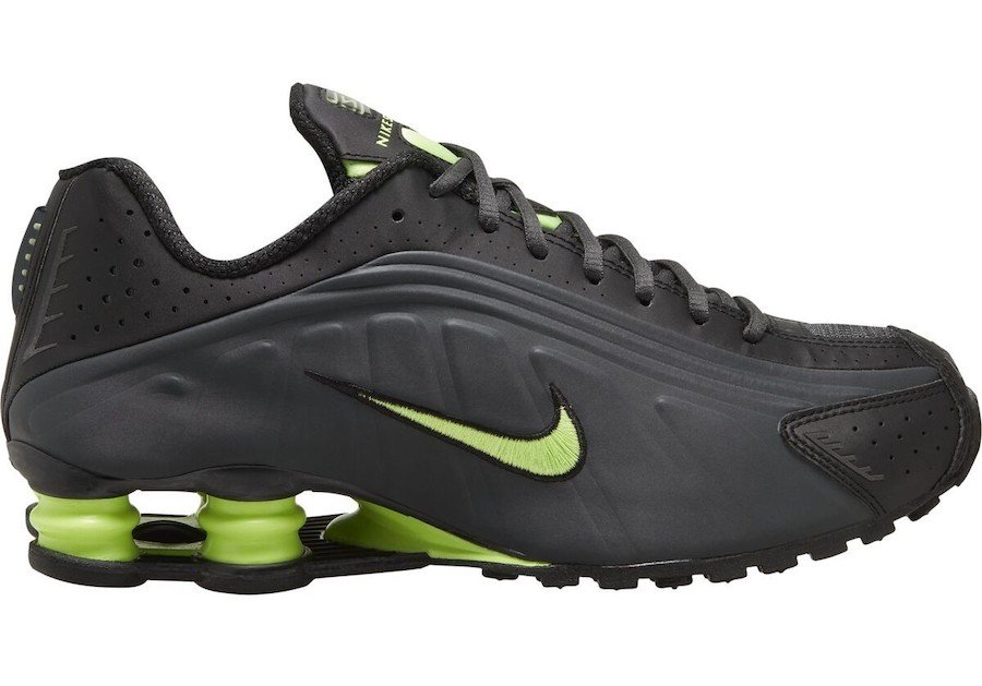 Nike Shox R4 Anthracite Ghost Green 104265-055 Release Date Info