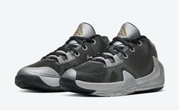 Nike Zoom Freak 1 GS Smoke Grey Metallic Silver Metallic Gold BQ5633-050 Release Date Info