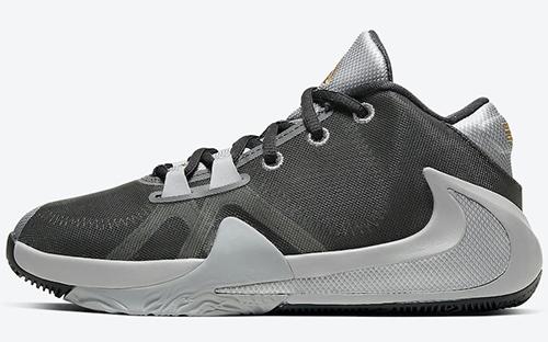 Nike Zoom Freak 1 GS Smoke Grey Metallic Silver Metallic Gold Release Date