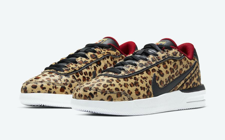 NikeCourt Air Vapor Wing PRM Leopard Print CQ9679-001 Release Date Info