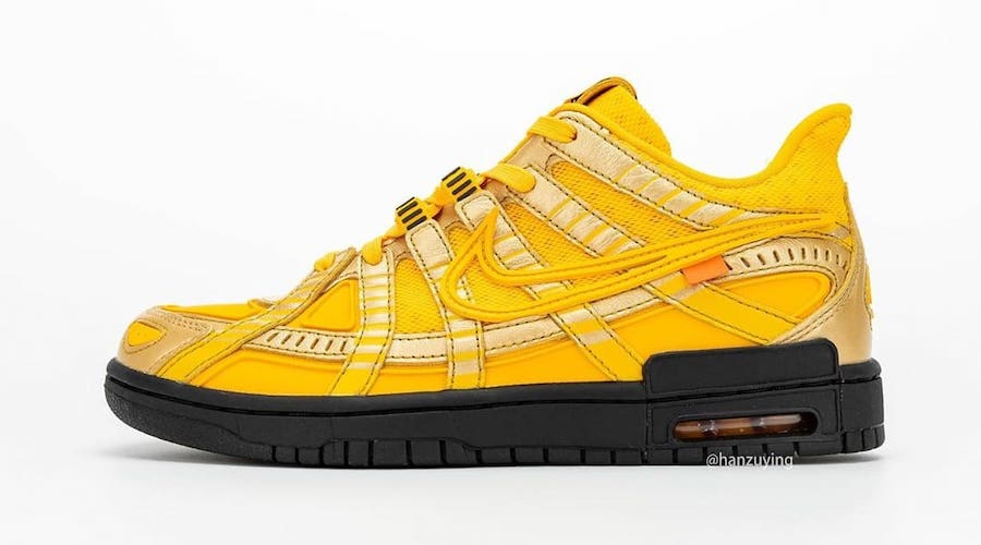 Off-White Nike Air Rubber Dunk University Gold CU6015-700 Release Info