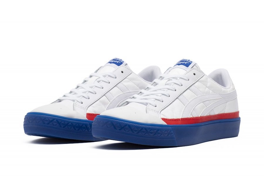 Onitsuka Tiger Fabre Classic Low Top White Red Blue Release Date Info