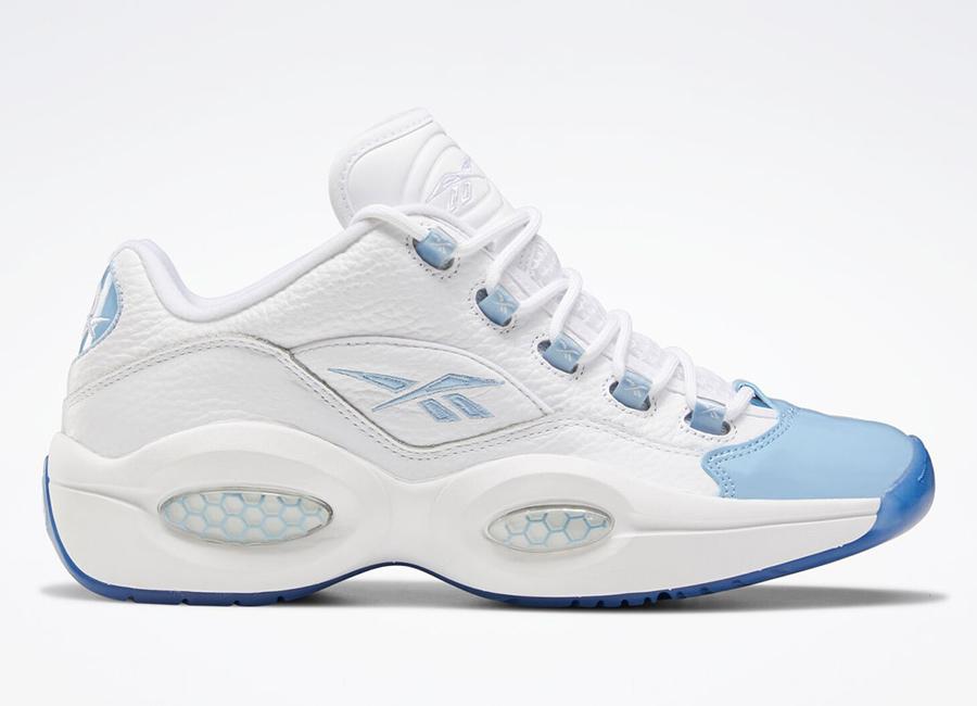 Reebok Question Low Patent Fluid Blue Toe FX5000