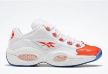 Reebok Question Low Patent Vivid Orange Toe FX4999