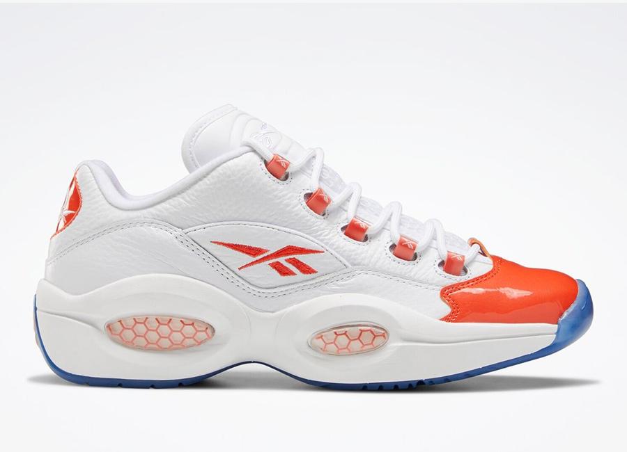 Reebok Question Low Patent Vivid Orange Toe FX4999