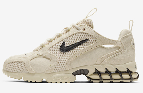 Stussy Nike Air Zoom Spiridon Caged Fossil Release Date