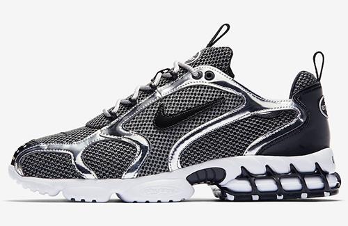 Stussy Nike Air Zoom Spiridon Caged Pure Platinum Black White Release Date