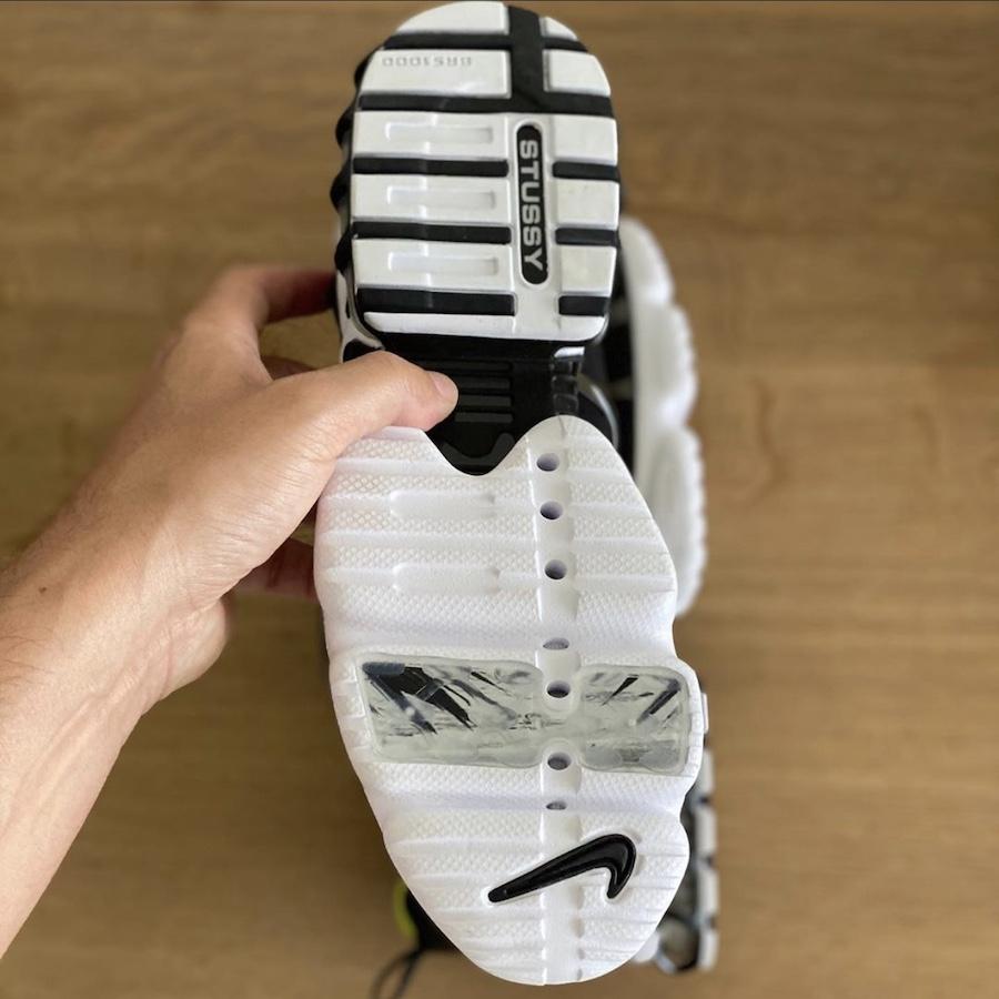 Stussy Nike Air Zoom Spiridon KK Black Bright Cactus CJ9918-001 Release Date