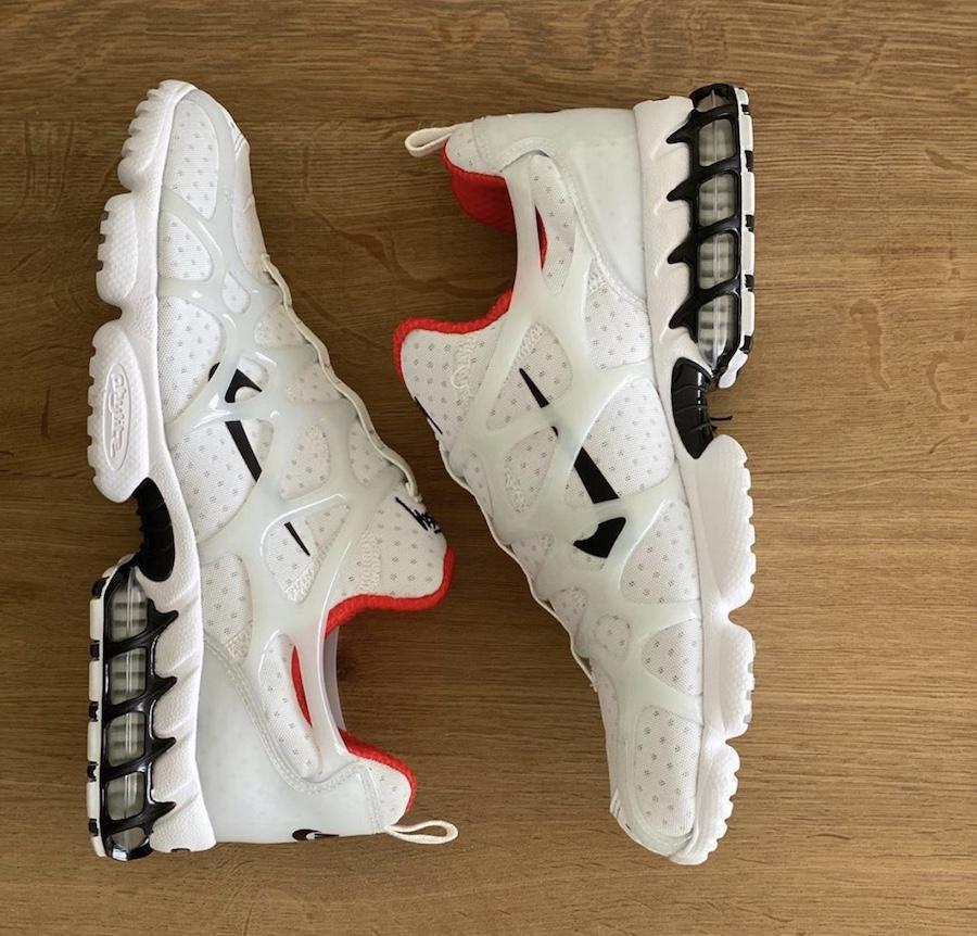 Stussy Nike Air Zoom Spiridon KK White Habanero Red CJ9918-100 Release Date