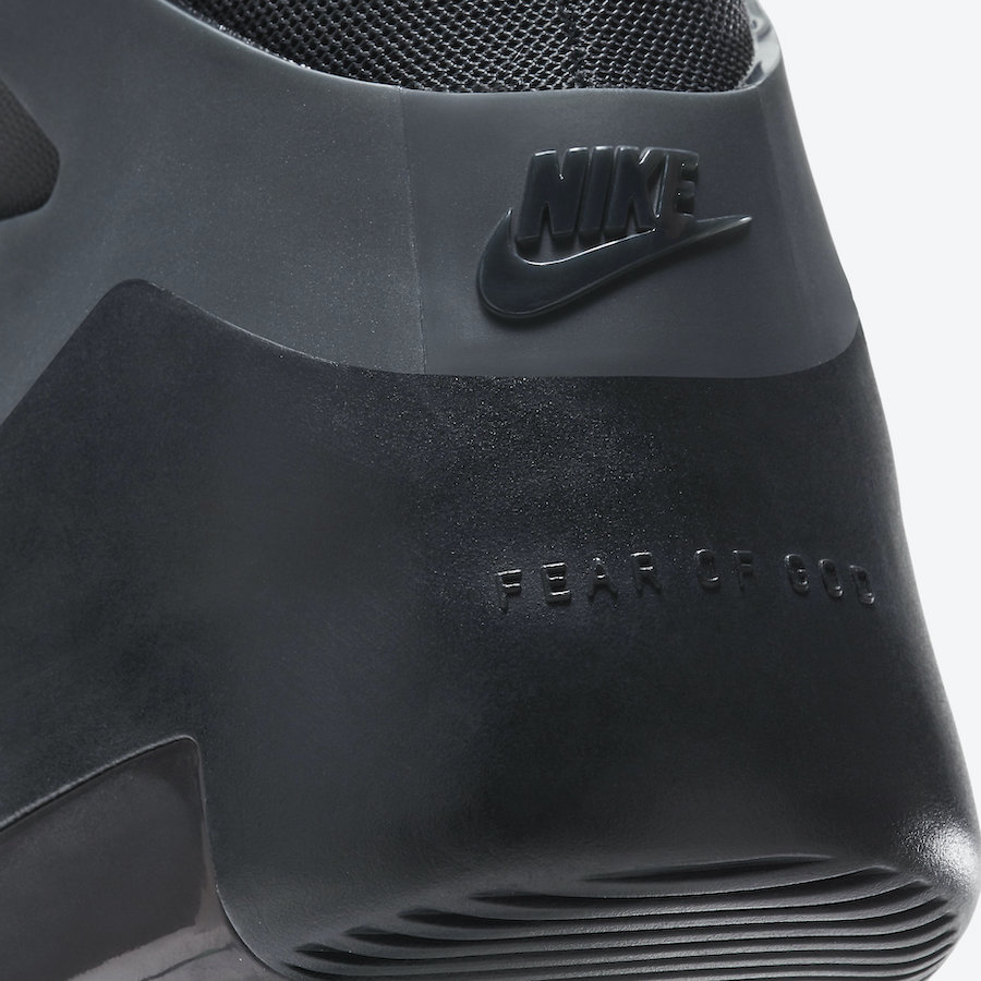 Triple Black Nike Air Fear of God 1 AR4237-005 Release Date