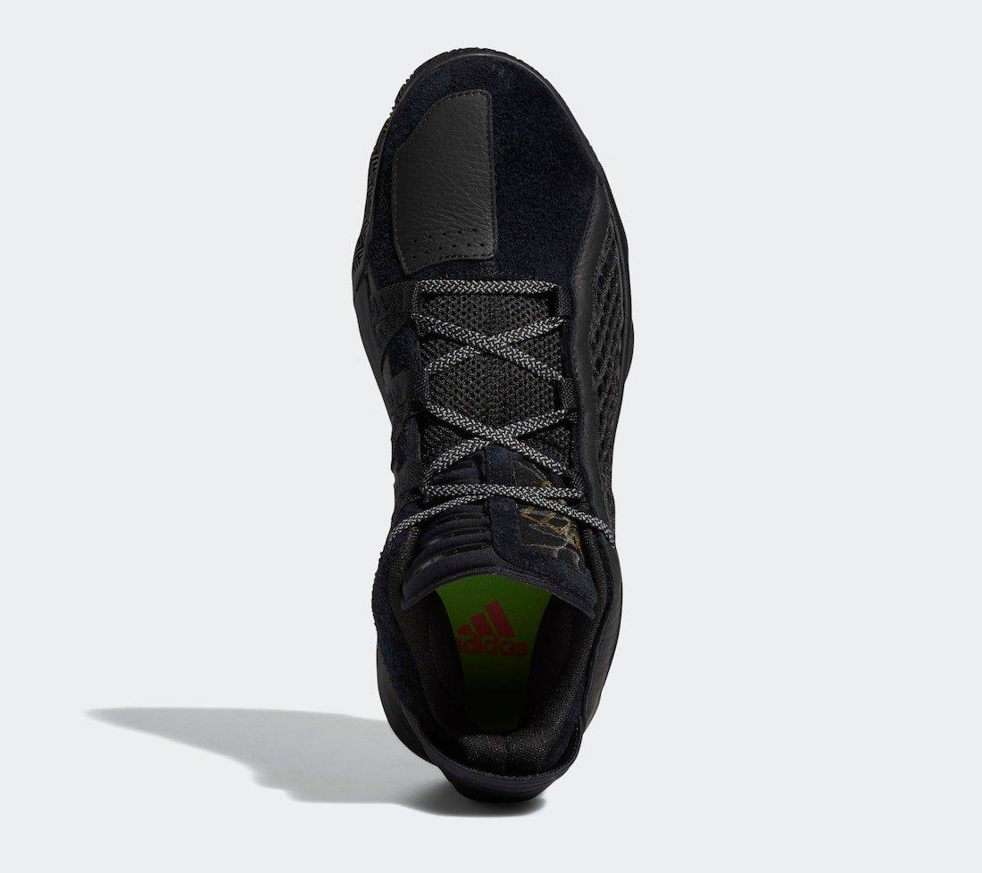 adidas Dame 6 Leather Black Metallic Gold FV8627 Release Info