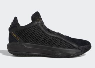 adidas Dame 6 Leather Black Metallic Gold FV8627 Release Info