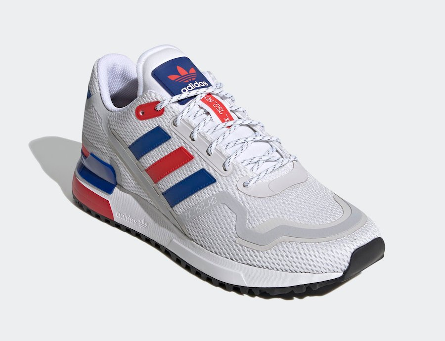 adidas ZX 750 HD White Royal Red FX7463 Release Date Info