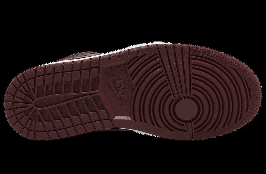 Air Jordan 1 Low Black Dark Red DB6491-600 Release Date Info
