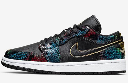 Air Jordan 1 Low Multicolor Snakeskin Release Date