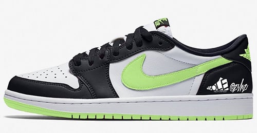 Air Jordan 1 Low OG White Ghost Green Black 2021 Release Date