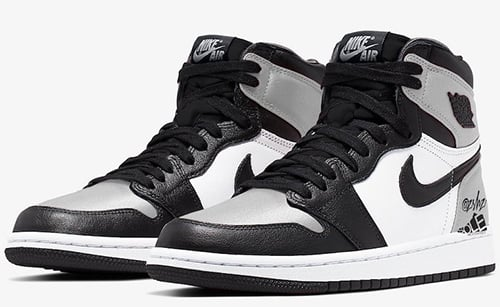 Air Jordan 1 WMNS Black Metallic Silver White Release Date