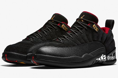 Air Jordan 12 Low SE Black Metallic Gold Varsity Red 2021 Release Date