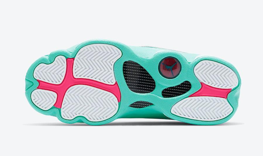 Air Jordan 13 GS Aurora Green Digital Pink 439358-100 Release