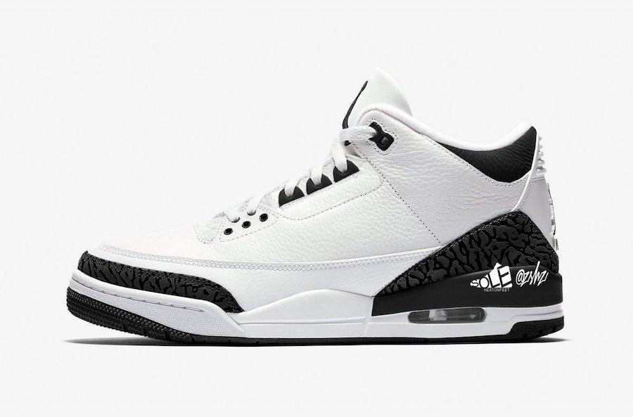 Air Jordan 3 SP White Black DA3595-100 Release Date Info
