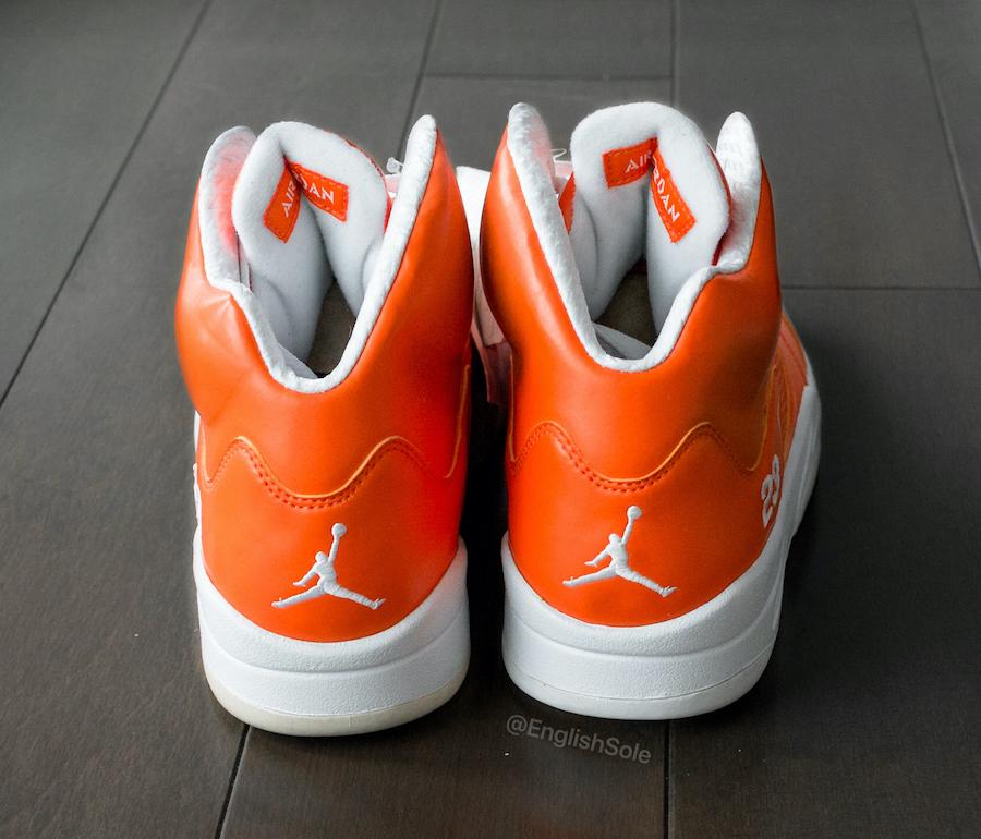 Air Jordan 5 Rainbow Orange 2011 Sample