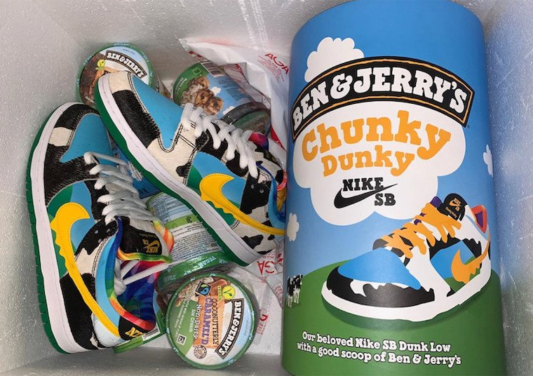 Ben & Jerry's x Nike SB Dunk Low Chunky Dunky CU3244-100 Release ...