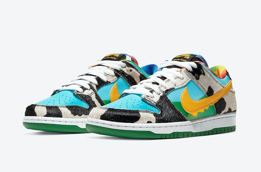 Ben and Jerrys Nike SB Dunk Low Chunky Dunky CU3244-100 Release Info Price