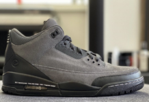 Fragment Air Jordan 3 The Ten Anthracite Sample