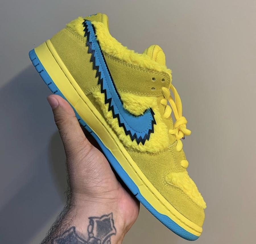 Grateful Dead Nike SB Dunk Low Yellow Bear CJ5378-700 Release Details