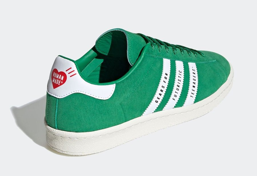 Human Made adidas Campus Green FY0732 Release Date Info
