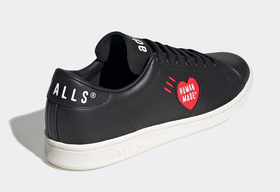 Human Made adidas Stan Smith Black FY0735 Release Date Info