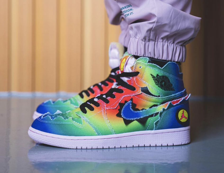 J Balvin Air Jordan 1 DC3481-900 On Feet