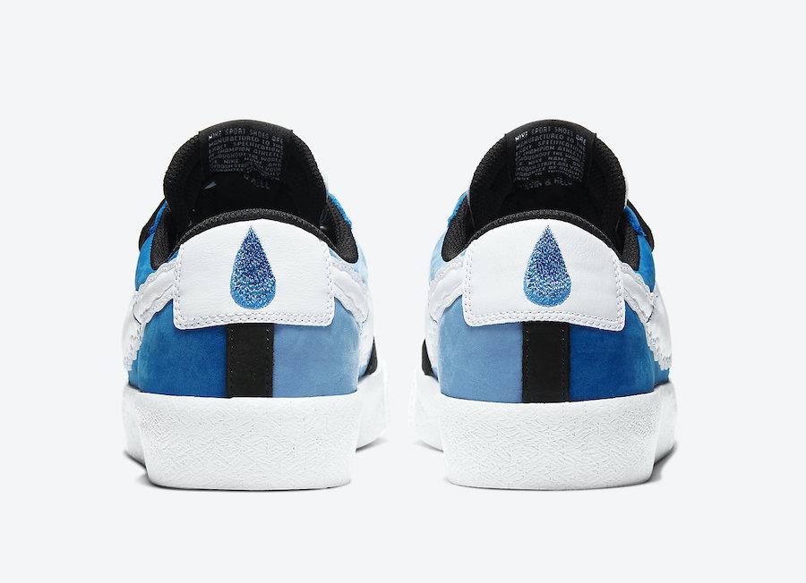 Kevin Bradley Nike SB Blazer Low Heaven CT4594-400 Release Date Info