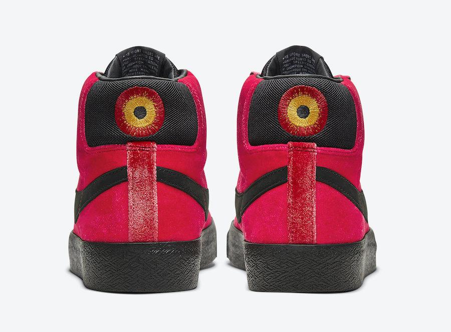 Kevin Bradley Nike SB Blazer Mid Hell CD2569-600 Release Date