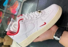 Kith Nike Air Force 1 Low Japan White University Red Metallic Gold CZ7926-100