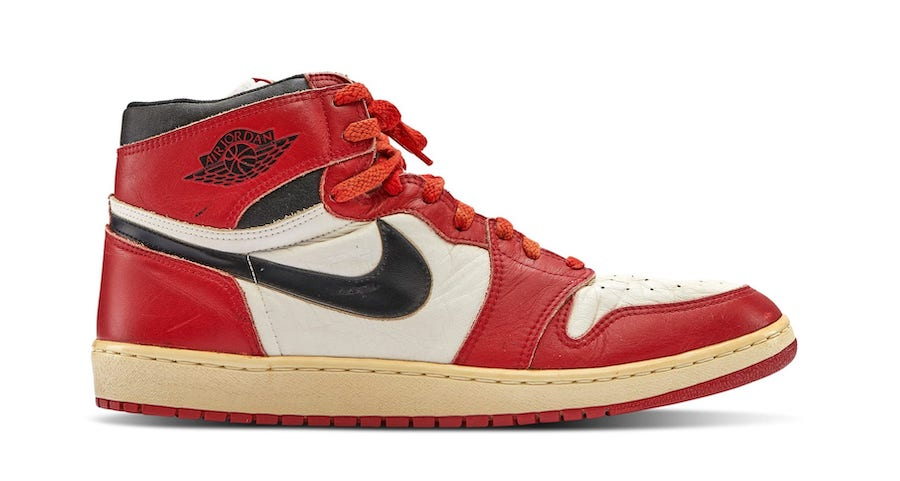 Michael Jordan Air Jordan 1 Chicago Game Worn Player Sample